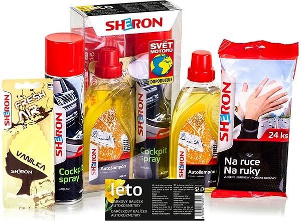 SHERON Nyári ajándékszett - Autóápolási készlet