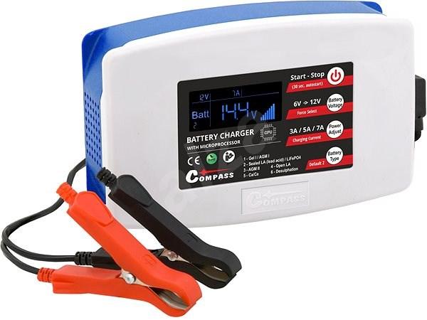 Töltő mikroprocesszor 7 Amp 6/12 V PB/GEL/LiFePO4 - Autó akkumulátor töltő