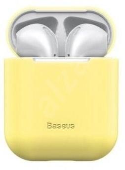 Baseus Super Thin Yellow Silica Gel Case az AirPods 1/2 gen részére - Tok