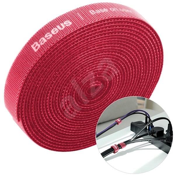 Baseus Rainbow Circle Velcro Straps 3m Red - Kábelrendező