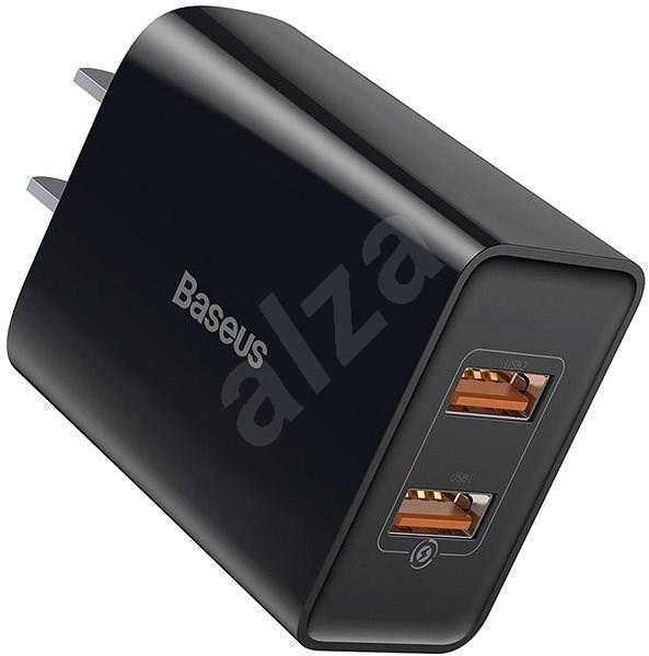 Baseus Speed Mini QC Dual USB Quick Charger (US) 18W fekete - Hálózati adapter