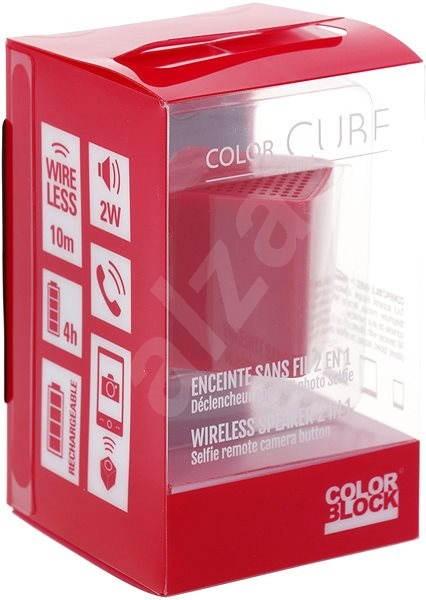 Colorblock CBCUBEMINIR, piros - Bluetooth hangszóró