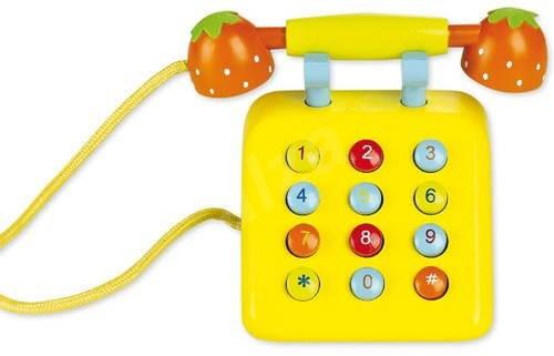 Fából sárga telefon - Játék szett