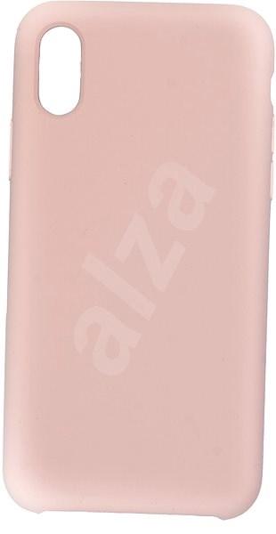 C00Lcase iPhone XS Liquid Silicon Case, rózsakvarc - Mobiltelefon hátlap