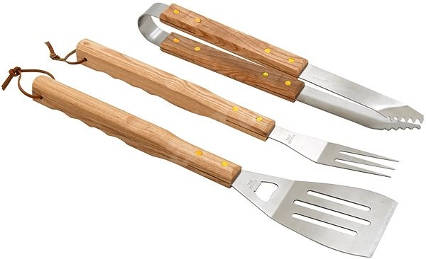 CATTARA Grill eszközök WOOD szett 3db - Grill szett