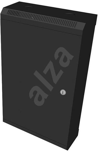 """Datacom 10"""" 12U / 140 mm (fémlemez) fekete - Kapcsolószekrény"""
