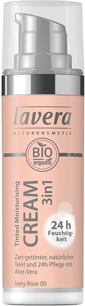 LAVERA Tinted Moisturising Cream 3in1 Ivory Rose 00 30 ml - Alapozó