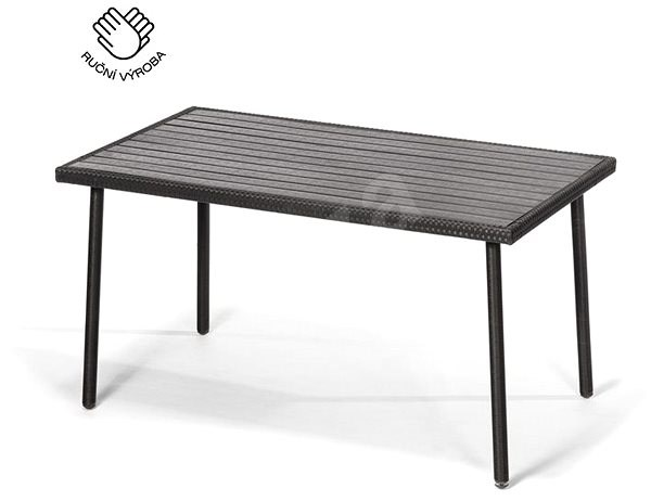 Designlink PISA antracit színű - Kerti asztal