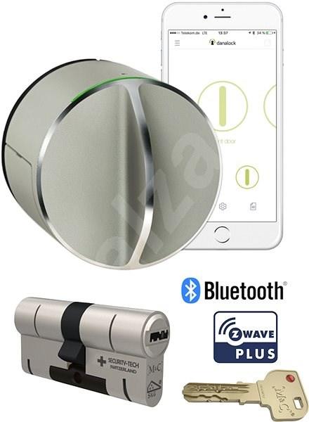 A Danalock V3 intelligens zár szett, M&C cilinder - Bluetooth és Z-Wave - Okos zár