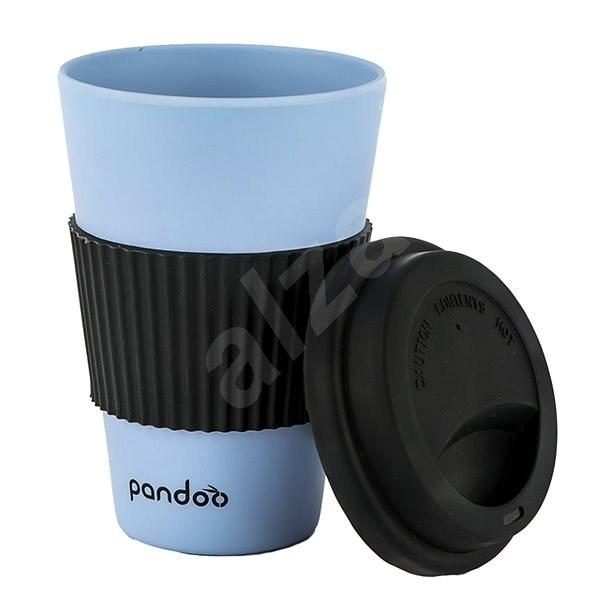 PANDOO újrafelhasználható bambuszcsésze kávéhoz és teához 450 ml, kék - Pohár