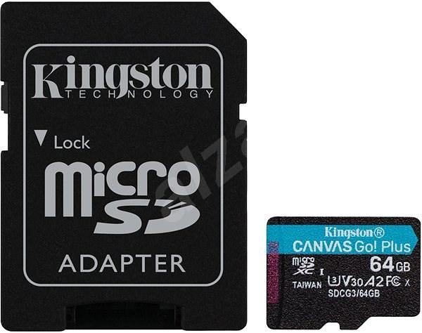 Kingston Canvas Go! Plus microSDXC 64GB + SD adapter - Memóriakártya