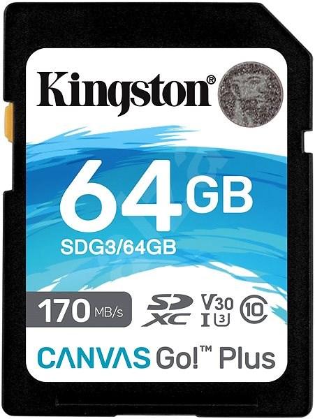 Kingston Canvas Go! Plus SDXC 64GB + SD adapter - Memóriakártya