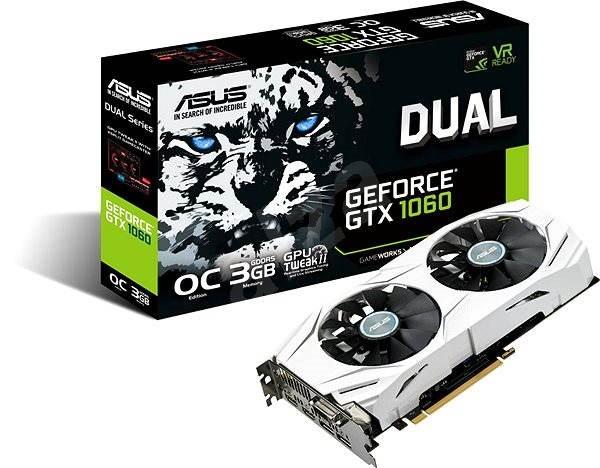 ASUS DUAL GeForce GTX 1060 O3G - Videokártya