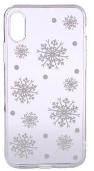 Epico White Snowflakes iPhone X/XS készülékhez - Mobiltelefon hátlap