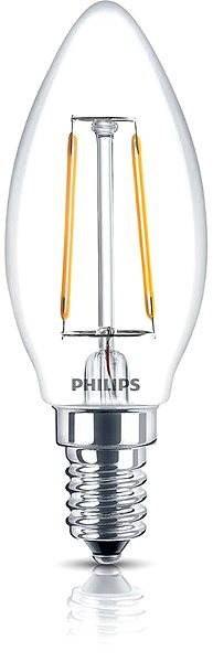 Philips LED Classic 2,3-25W, E14, 2700K, átlátszó - LED izzó