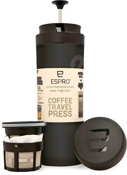 Espro Travel Press fekete - Dugattyús kávéfőző