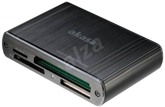AKASA USB 3.0 multi card reader AK-CR-08BK - Kártyaolvasó