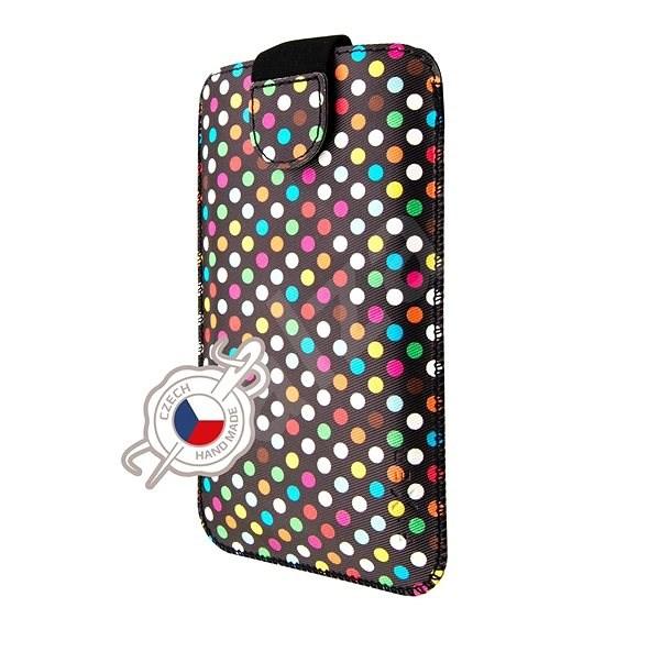 FIXED Soft Slim 5XL Rainbow Dots zárással - Mobiltelefon tok