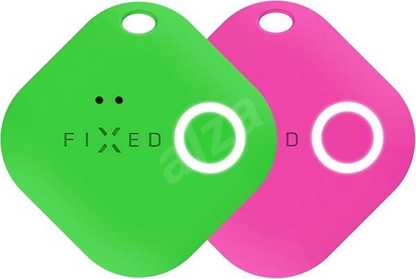 FIXED Smile mozgásérzékelővel, DUO PACK - zöld + rózsaszín - Bluetooth kulcskereső