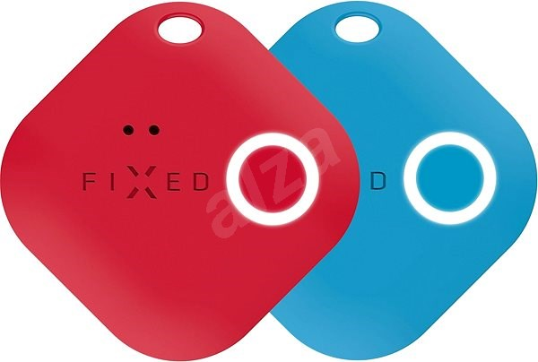 FIXED Smile mozgásérzékelővel, DUO PACK - piros + kék - Bluetooth kulcskereső
