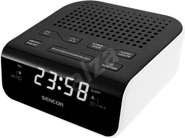 Sencor SRC 136 WH fekete-fehér - Rádiós ébresztőóra