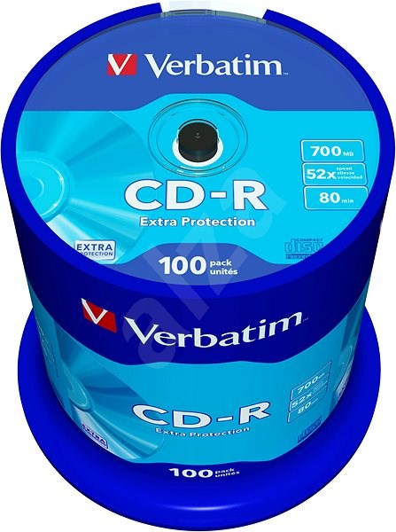 Verbatim CD-R DataLife Protection 52x, 100db - Média