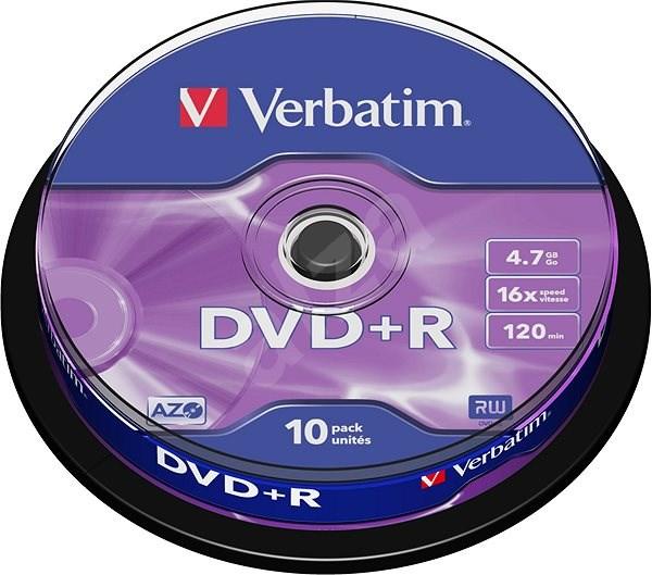 DVD+R Verbatim 4,7 GB 16x speed, 10 db cakebox csomag - Média