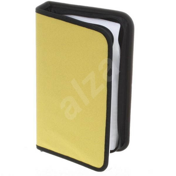 QCP Pouzdro na 64 CD/DVD - NYLON, obdelníkové, žluté (yellow) -