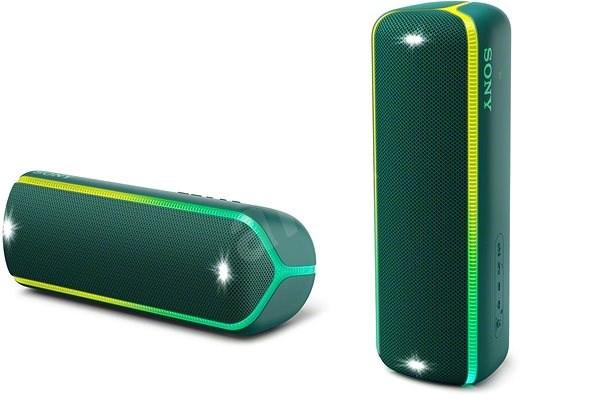 Sony SRS-XB32, zöld - Bluetooth hangszóró