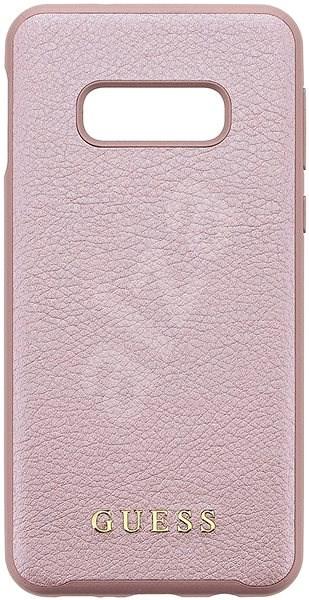 Guess Iridescent tok Samsung G970 Galaxy S10e készülékhez, rózsaarany - Mobiltelefon hátlap