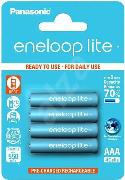 Panasonic eneloop lite AAA 550mAh 4 db - Akkumulátor