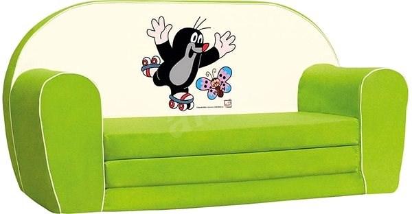 Bino zöld minikanapé - Kisvakondos - Játék bútor