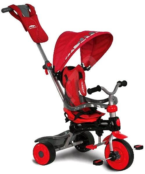 Tricycle with push bar swivel - red 3in1 - Tricycle