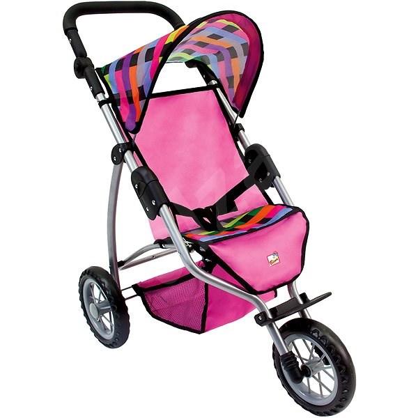 Bino Tricikli babakocsi - színes - Játék babakocsi  3e45cfc3aa