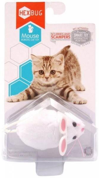 Hexbug - robot egér, fehér - Macskajáték