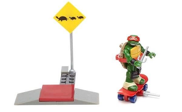 Mattel Fisher Price Mega Bloks Ninja Turtles - Street edzés Ralph - Építőjáték