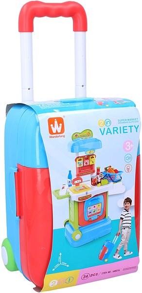 Wiky szupermarket bőröndben - Játék bútor