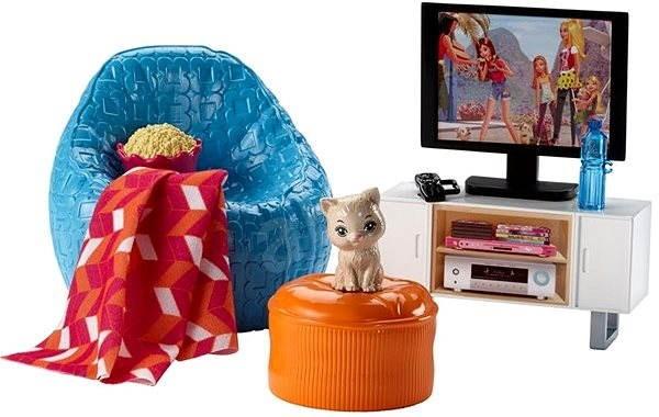 Mattel Barbie mini kiegészítők- hálószoba bútor - Baba kiegészítő ...