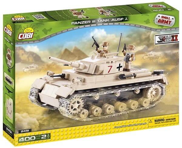 Cobi II WW Tank Panzer III ausf J - Építőjáték