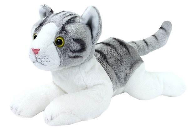 Rappa szürke-fehér ülő plüss macska c5519d7b81