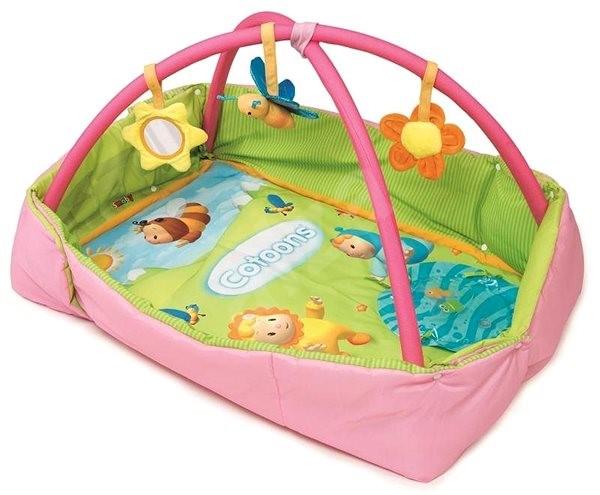 Smoby Cotoons Discovery téglalap alakú boltozattal - rózsaszín - Játszószőnyeg