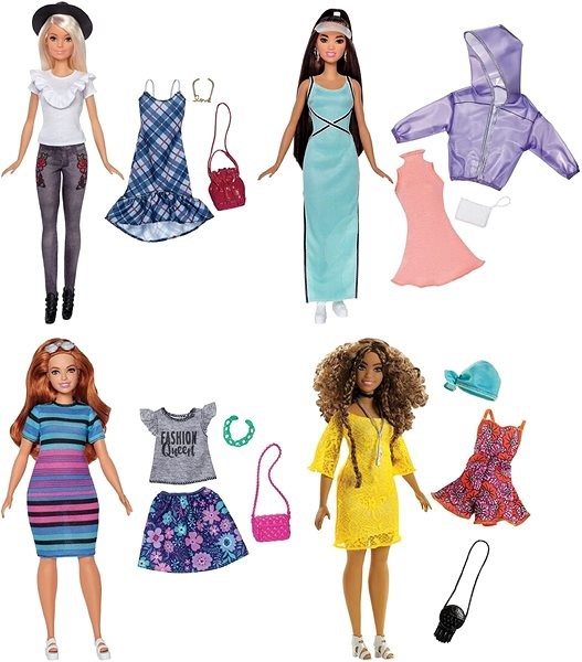 Barbie Divatmodell tartozékokkal és ruhákkal - Baba  b275ee21db