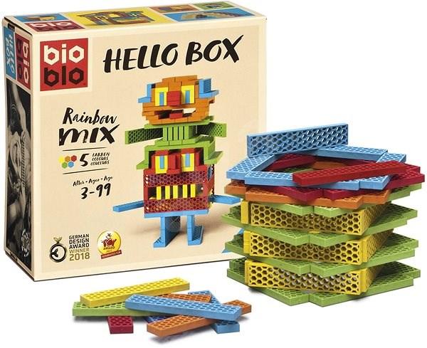 Bioblo Hello Box - 100 építőelem - Építőjáték