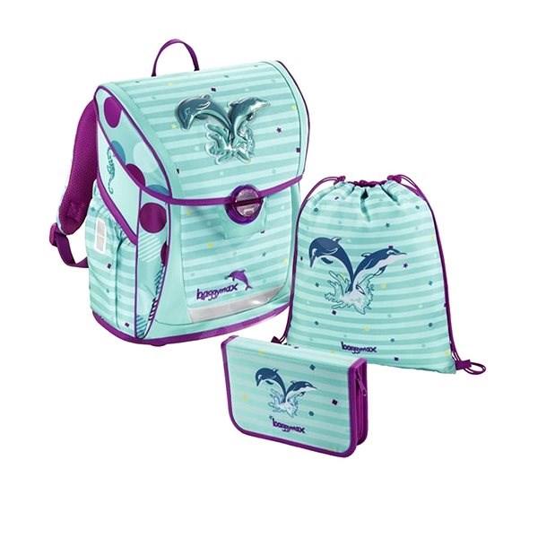 99f09ec615fe Baggymax Fabby iskolatáska szett, Delfin mintázat - Iskolai felszerelés