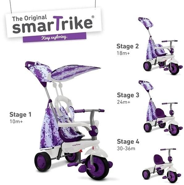 Az intelligens Trike 4v1 Spirit Purple - Tricikli