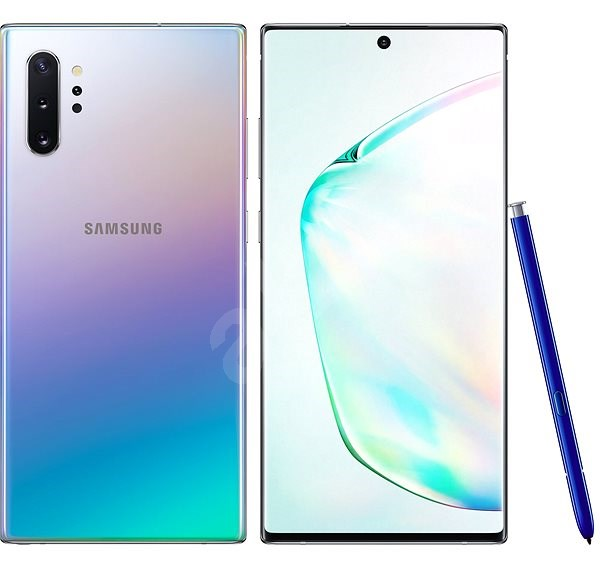 Samsung Galaxy Note 10+ 256 GB gradiens ezüst - Mobiltelefon