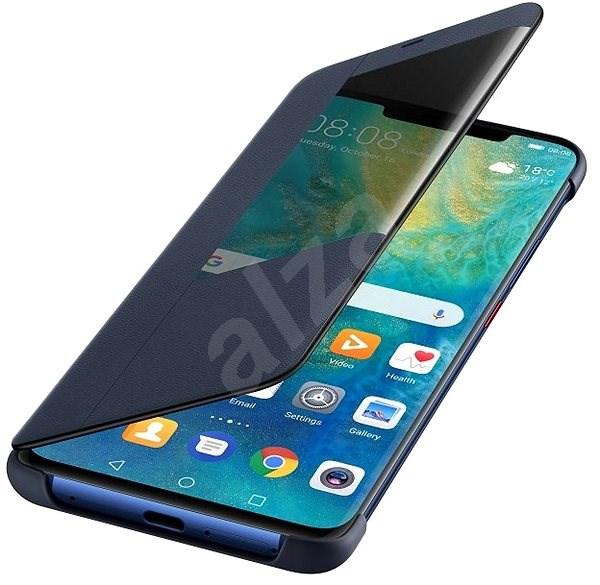 Huawei Original S-View Mate 20 Pro-hoz mélykék (EU Blister) - Mobiltelefon tok