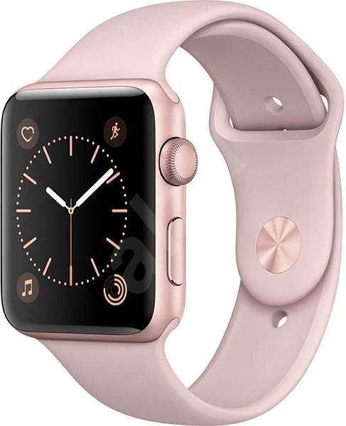 Apple Watch Series 2 42 mm Rose Gold alumínium tok homokrózsaszín sportszíj - Okosóra
