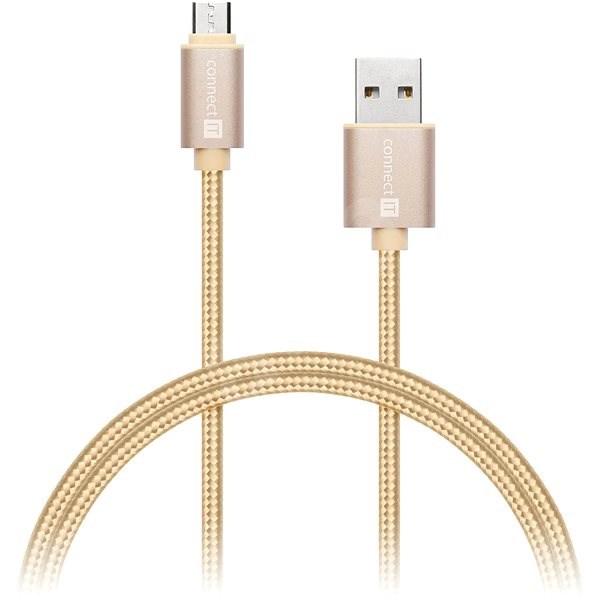 CONNECT IT Wirez Premium micro USB adatkábel, 1 m, arany - Adatkábel