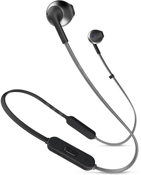 JBL T205 BT fekete - Mikrofonos fej-/fülhallgató